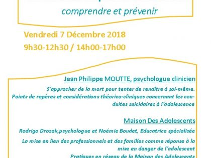 journée FOCUS adolescents Cadillac 7 dec 2018